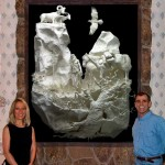 "Allen and Patty with their commission piece ""Replenishment"""