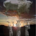 "Fine Art Print-""White Buffalo Sky"", Digital Watercolor"